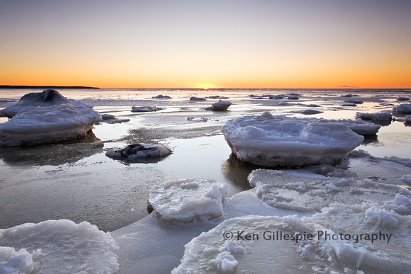 Ice forming on Lake Winnipeg