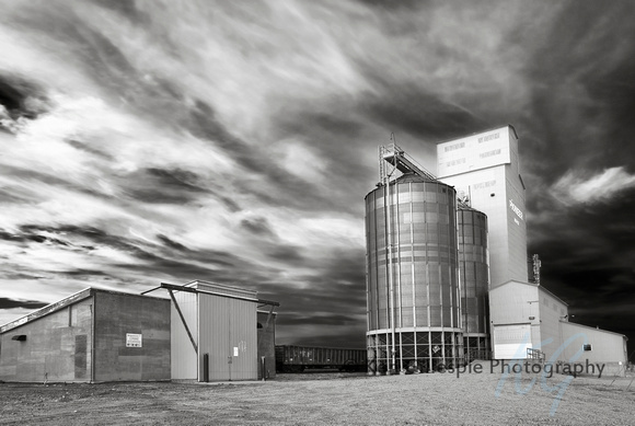 Grain Elevator on the Canadian Prairie.